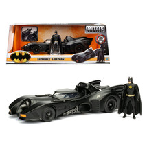 1989 Batmobile with Diecast Batman Figure 1/24 Diecast Model Car by Jada... - $52.98