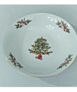 """Tienshan Holiday Christmas Tree China Serving Bowl 9.25"""" x 9.25"""" x 2.5"""" ... - $25.00"""