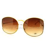 Celebrity Fashion Sunglasses Womens Oversized Round Thin Metal Frame - $8.95