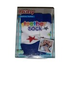 Nuby Baby Soothing Teether Sock with Travel Bag Stars Print Brand New In... - $6.79