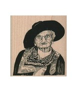 Mounted Rubber Stamp, Cowgirl Grannie, Cowgirl, Western, Old West, Cowboy, Hat - $12.43