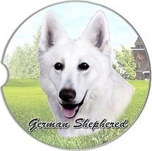 White German Shepherd Car Coaster Absorbent Keep Cup Holder Dry Stonewar... - $10.88