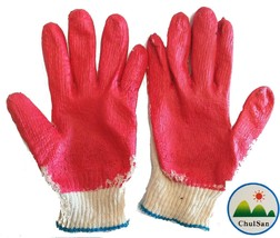 Latex Rubber Gloves PPE Medical 100 Pairs Red Palm Coated Work Safety Ge... - $95.40