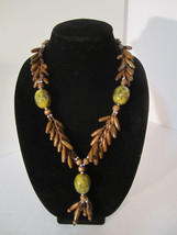 Fun Wood Bead & Acrylic Necklace Earthy and Bold - $10.00
