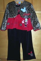 DISNEY MINNIE MOUSE 3 Pc SET 18M JACKET TOP PANTS NEW - $21.78