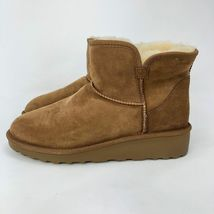 Brand New Kirkland Signature Ladies' Sheep Skin Shearling Short Boots Chestnut image 10