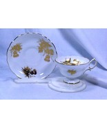 Hammersley Golden Thistle Tea Cup And Saucer Set - $34.64