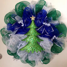 Winters Night Handmade Deco Mesh Wreath - $89.99