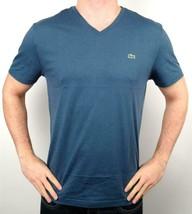 Lacoste Men's Premium Athletic Pima Cotton V-Neck Shirt T-Shirt Typhoon Sz M image 1