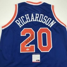 Autographed/Signed MICHAEL RAY RICHARDSON New York Royal Blue Jersey PSA... - €76,06 EUR