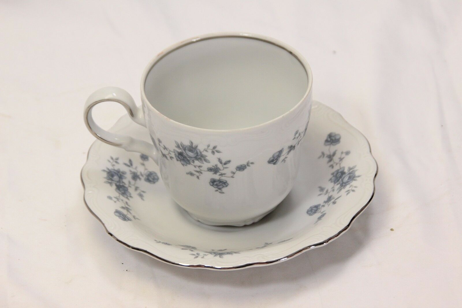 Primary image for Johann Haviland Blue Garland Cups and Saucers 8 each