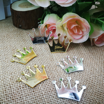50pcs Crown Acrylic Customized Queen Costume Cosplay Presents Gifts Favo... - $28.90