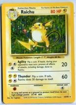 Raichu 14/102 Base Set Holo-foil Rare Collectible Pokemon Card, Lightly Played  - $9.89