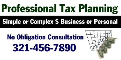 3x6 Vinyl Banner - Business Or Personal Tax Returns