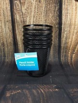 "Black Wire Mesh Waste Basket Pencil Holder Pack of 5 JOT 4"" X 3 1/2"" - $11.27"