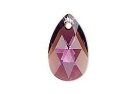 Swarovski Pear crystal pendant style 6106 Amethyst Shimmer 16mm 22mm purple - $4.11+