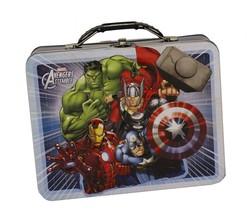 :10338-B  Avengers Assemble White Tin Lunch Box - $12.65