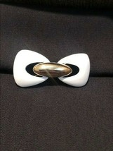 Monet White & Gold Color Pin - $13.86