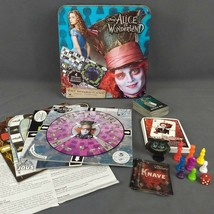 Disney Alice in Wonderland Board Game Cardinal in Collectible Tin Box Complete - $19.30