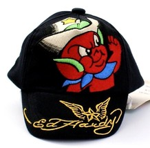 Ed Hardy Black Embroidered Tattoo Graphics Baby Cap Infant Size 0-9 Mont... - $26.24