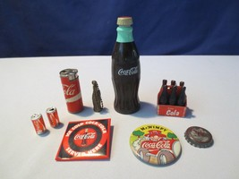 Lot 9 Old Coca Cola Unusual  Coke KEY CHAIN PINS Bottles Miniatures COLL... - $27.00