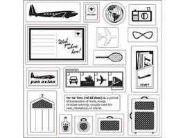 Fiskars-Away We Go-Stamp Set