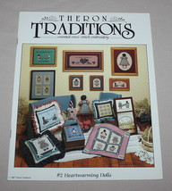 #2 Heartwarming Dolls Cross Stitch Pattern Book 12 Designs Theron Tradit... - $12.38