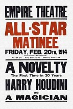 A Novelty, the first in 20 years, Harry Houdini as a magician by John Wa... - $19.99+