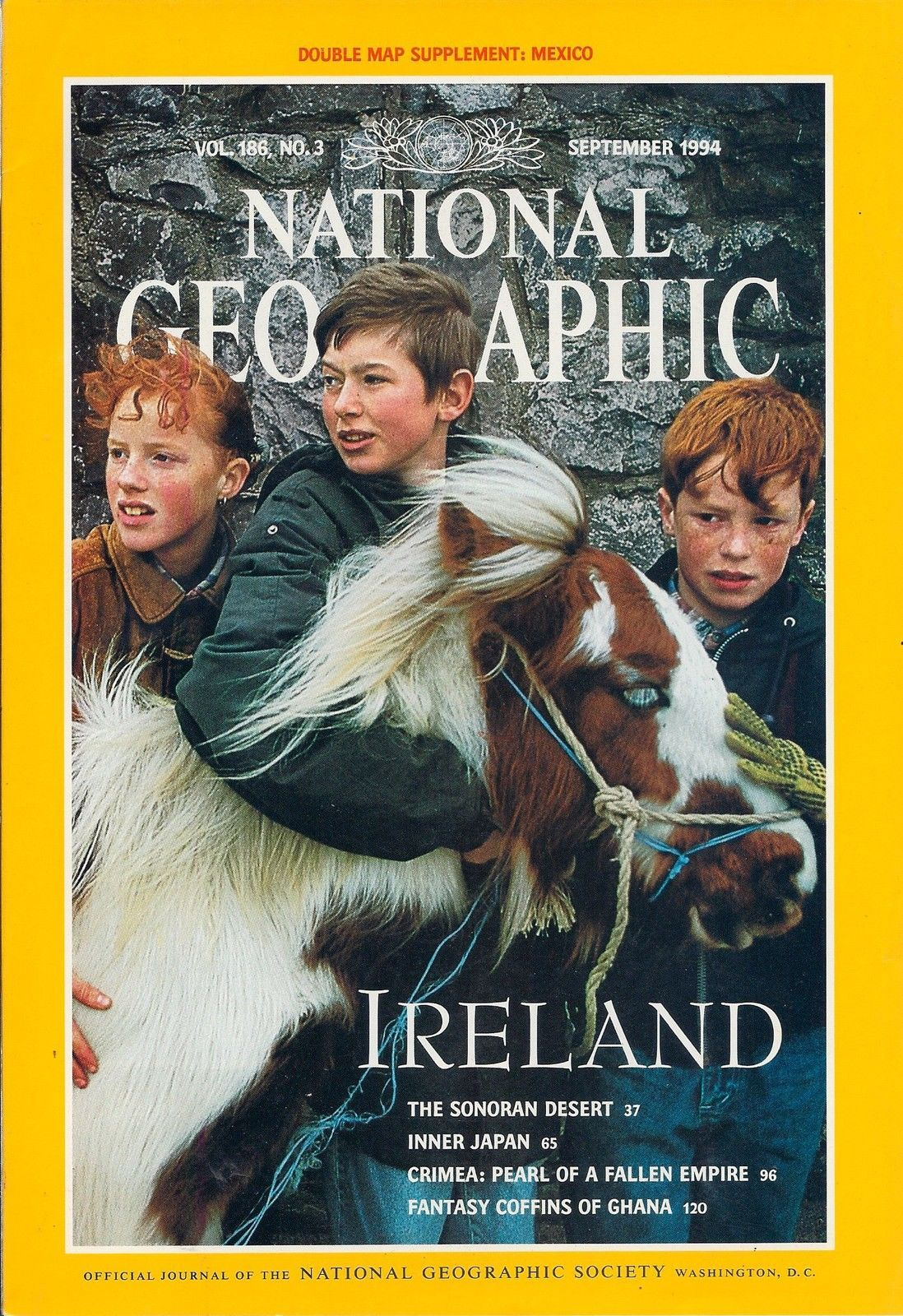 Primary image for National Geographic Magazine September 1994 Supplement Not Included