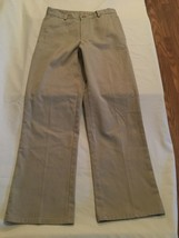 Boys Size 12 Regular Nautica pants uniform khaki flat front - $7.99