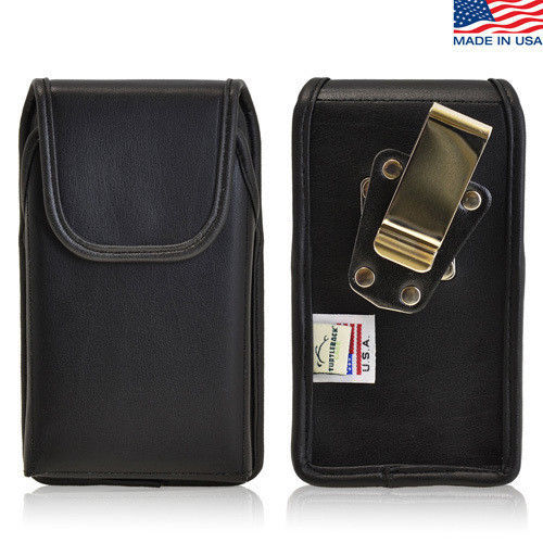 Rugged Genuine Leather Metal Clip Magnetic Case fits (iPhone 6 PLUS) Otterbox - $39.99