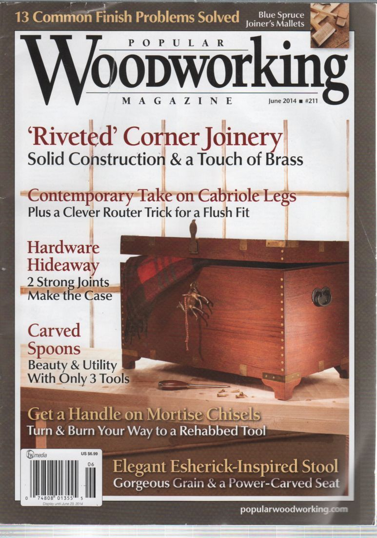 Primary image for Popular Woodworking Magazine #211 June 2014Finish Problems Solved
