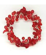 Home For ALL The Holidays Acrylic Berry and Leaves Candle Ring/Wreath (R... - $17.33