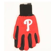"""MLB fan sport utility work gloves (Philadelphia Phillies Red/Black """"P"""") - $7.95"""