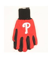 "MLB fan sport utility work gloves (Philadelphia Phillies Red/Black ""P"") - $7.95"