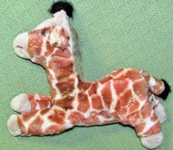 "Aurora 12"" Flopsie Giraffe Stuffed Animal B EAN Bag Plush Tan Spots Cuddly Toy - $14.85"