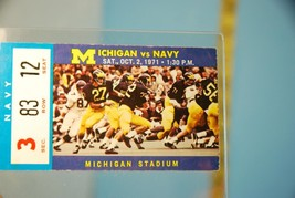 1971 Michigan v Navy College Football Game Ticket Stub - $15.79