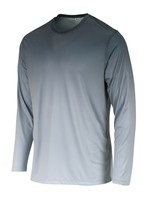 Sun Protection Long Sleeve Dri Fit Black Light Gray base layer sun shirt UPF 50+ image 2