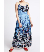 MARKS & SPENCER PER UNA Floral Print Ruffle Maxi Dress BNWT - $54.84