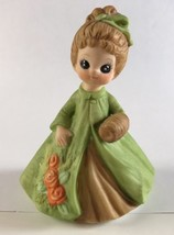 Josef Original George Good Girl In Green Dress Figurine March Vintage 1974 - $6.85