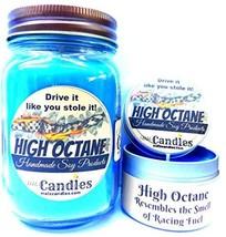COMBO - High Octane race fuel - 16oz Country Jar & 4oz Candle Tin HANDMA... - $18.68
