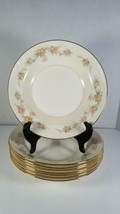 8 Homer Laughlin Georgian Eggshell Rimmed Soup Bowls Floral Pattern F47 N5 - $19.39