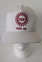 UAW Local 160 Baseball Cap Hat White - $13.36