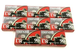 Lot of 8 Maxell UR 90 Normal Bias Blank Audio Cassette Tapes, New & Sealed - $37.95