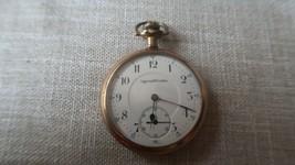 Antique Ingersoll Trenton 50mm Pocket Watch Blue Hands - $138.60