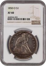1850-O $1 NGC XF40 - Liberty Seated Dollar - $1,697.50