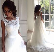 Vintage White Strapless Lace Wedding Dress Backless Country Bridal Gowns... - $183.00