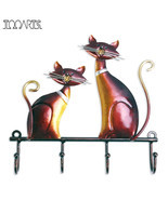 Iron Bronze Colored Metal Cat Key Holder Wall Decor - £15.27 GBP