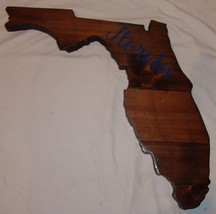 Large Wood Plaque State Florida Barn Board Wall Hanging Decor Reclaimed ... - $87.78