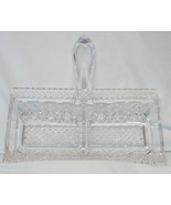 Imperial Cape Cod Clear Handled Divided MInt Server - $22.66